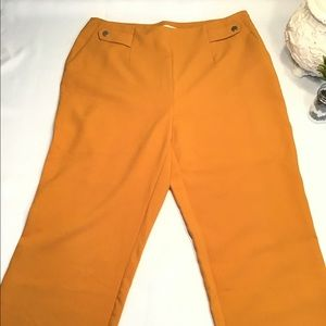 Chico's Gold Wide Leg Crop Pants, Size 1.5